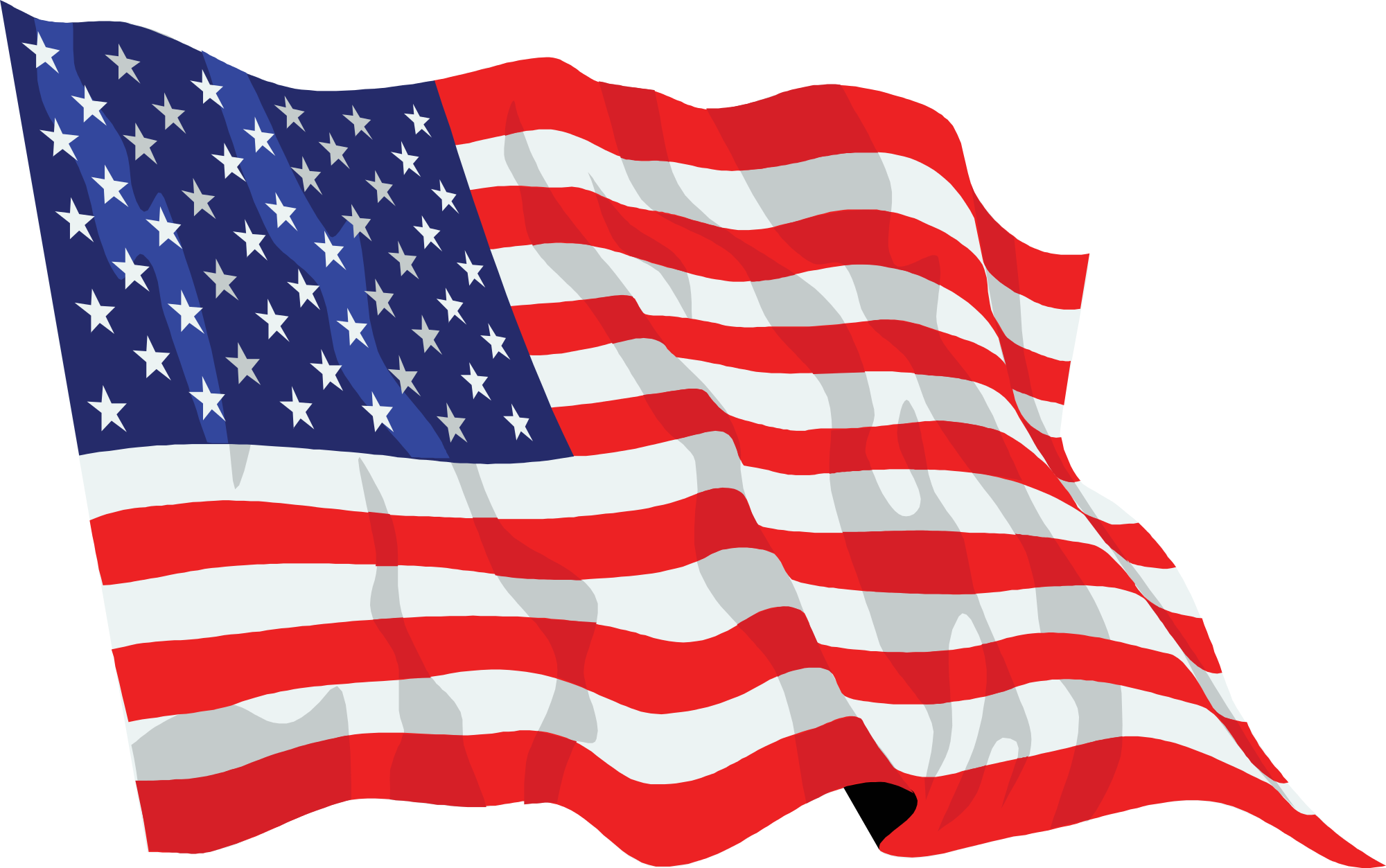 Waving us flag clipart png black and white File:United States flag waving icon.svg - Wikimedia Commons png black and white