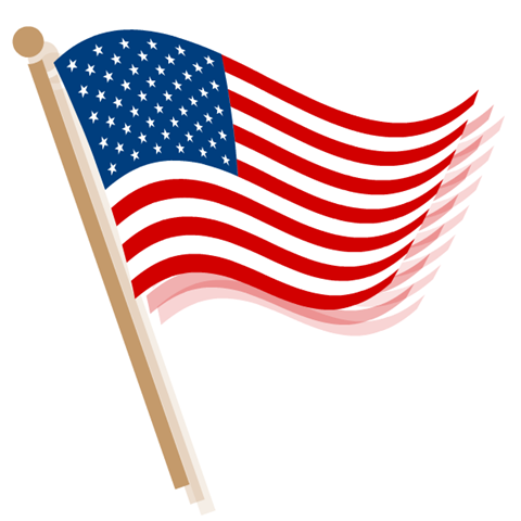 United states flag clip art banner transparent stock Small American Flag Clipart - Clipart Kid banner transparent stock