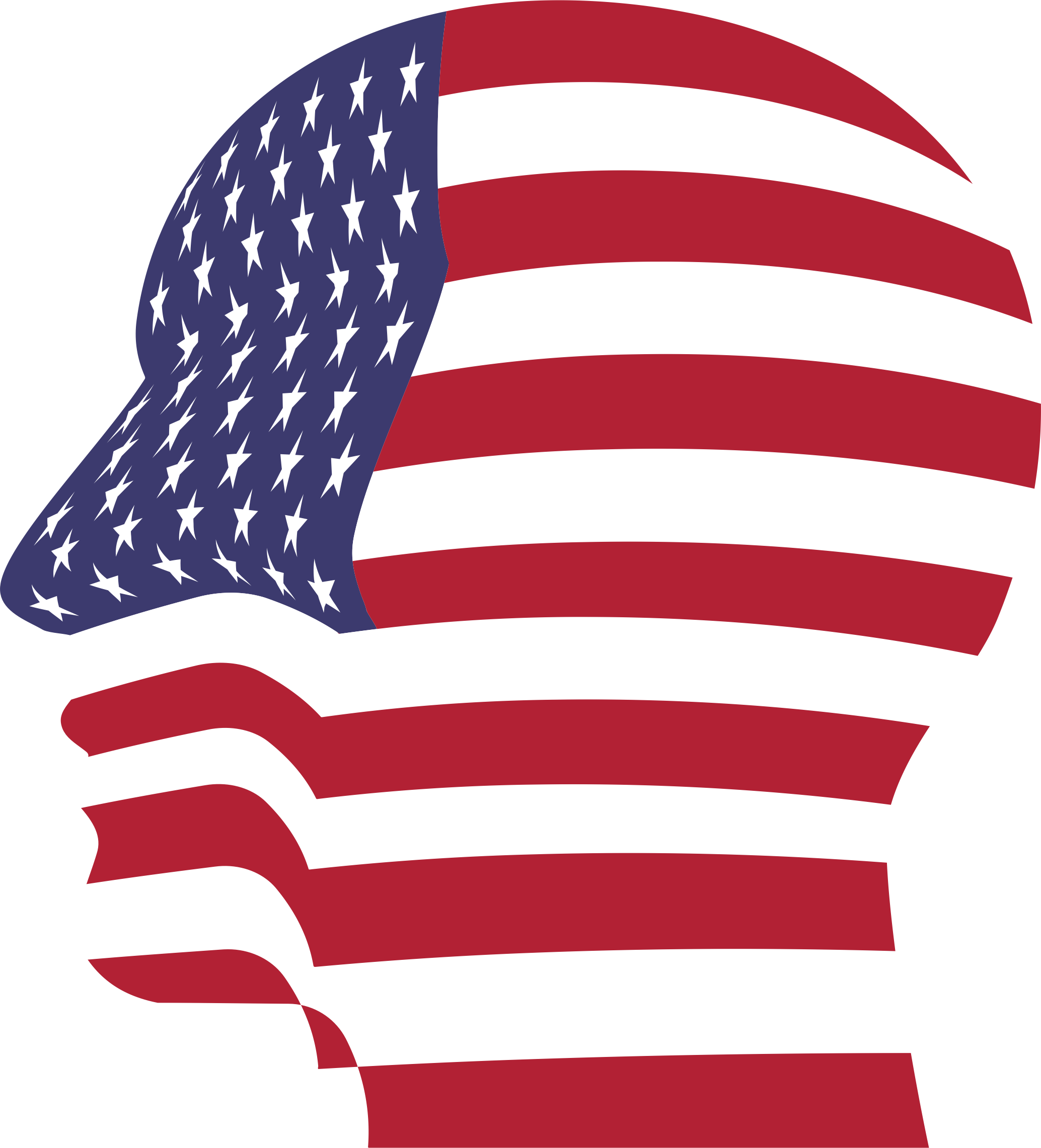 United states of america flag clipart jpg black and white download Clipart - Man Head America Flag jpg black and white download