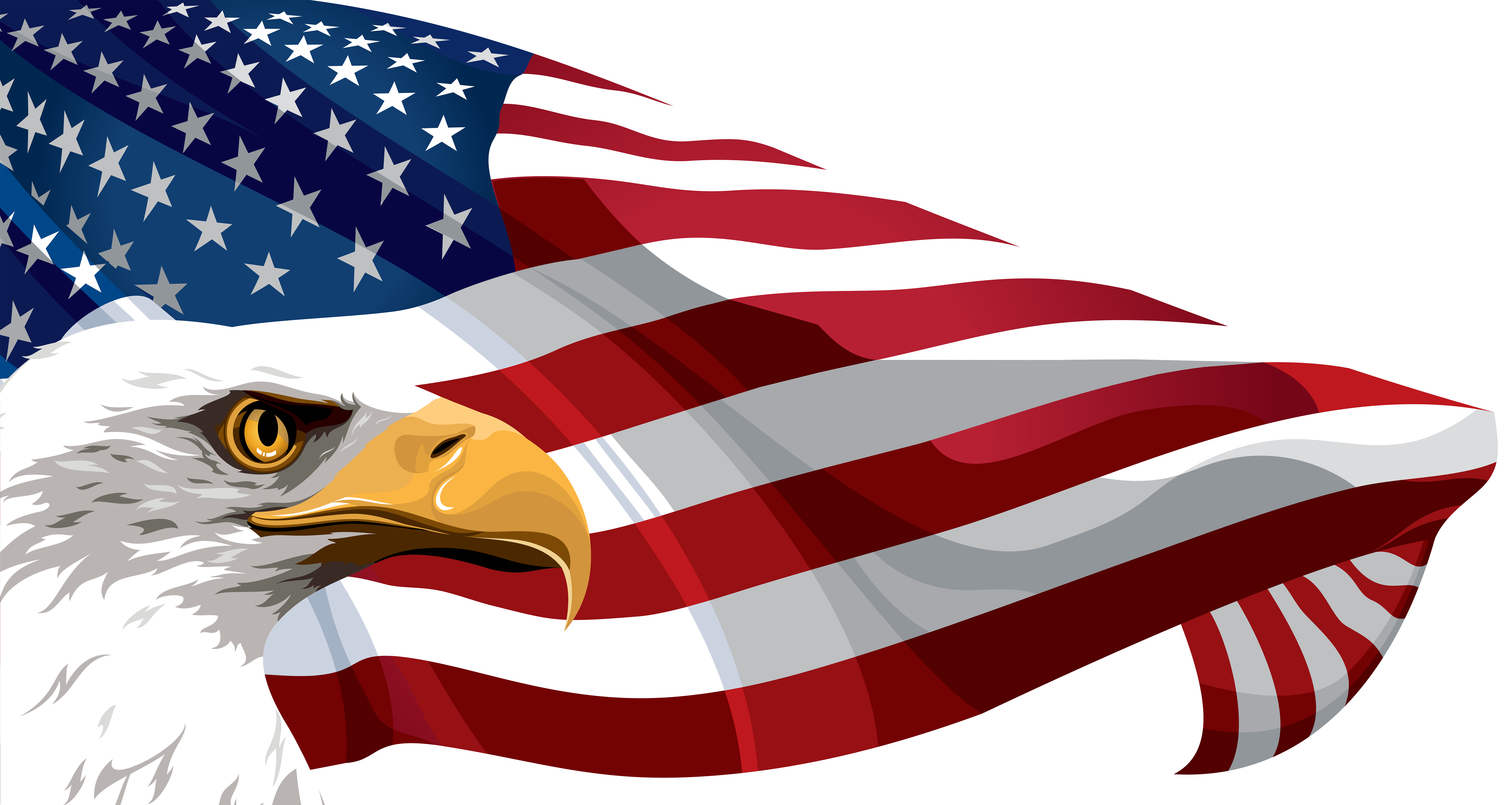 United states flag clipart free vector black and white stock Flag of the United States Clip art - American Flag and Eagle ... vector black and white stock