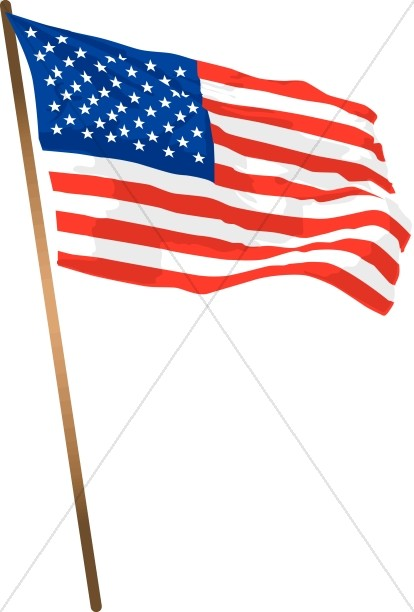 United states flag pole clipart transparent download American Flag with a Pole | Independence Day Clipart transparent download