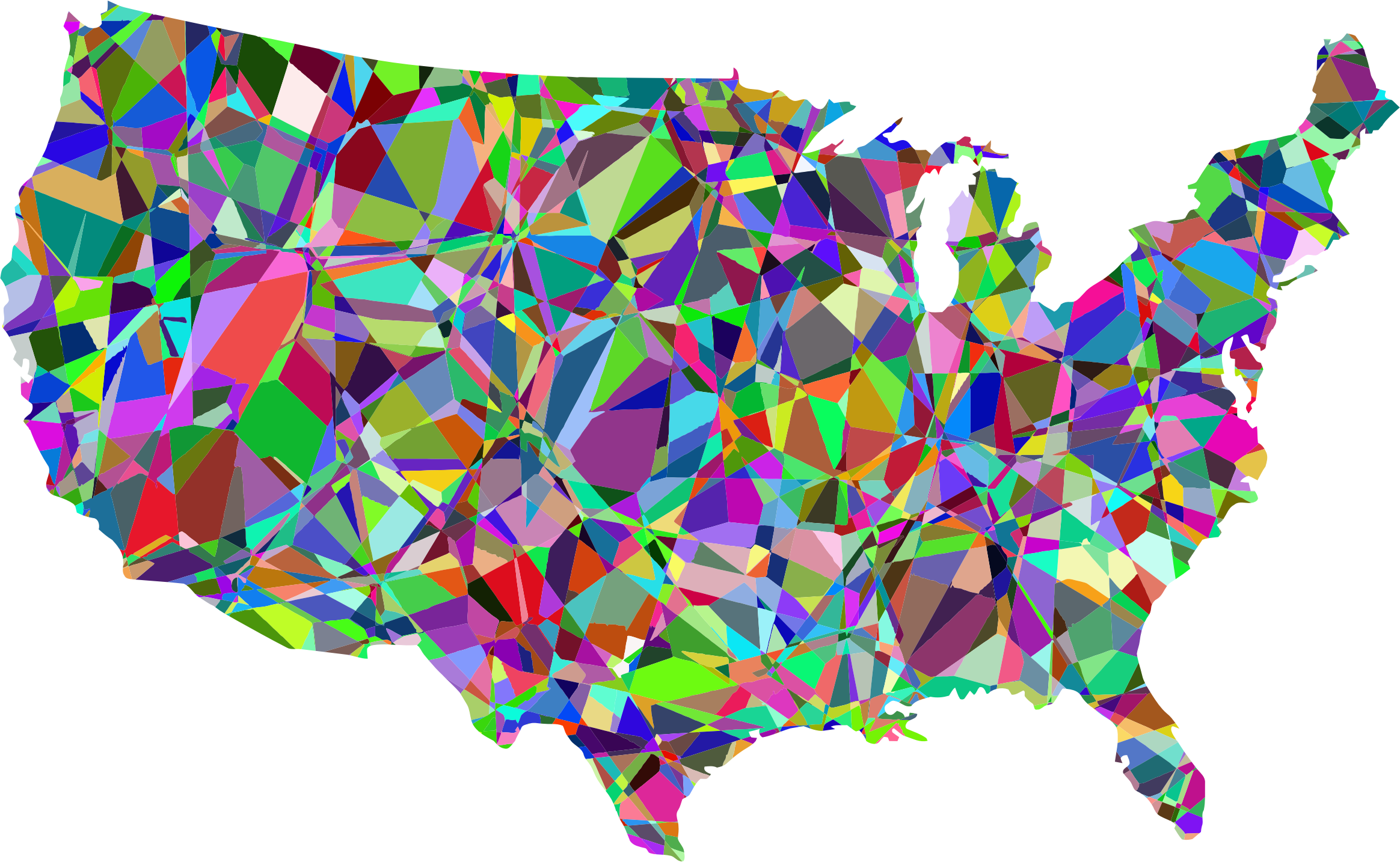United states map clipart picture freeuse library Clipart - Technicolor United States Map picture freeuse library