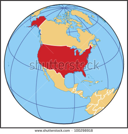United states map globe clipart clip black and white stock United States Globe Stock Photos, Royalty-Free Images & Vectors ... clip black and white stock