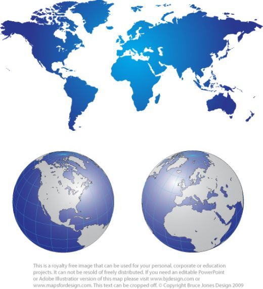 United states map globe clipart clipart stock Free World Maps | hubpages clipart stock