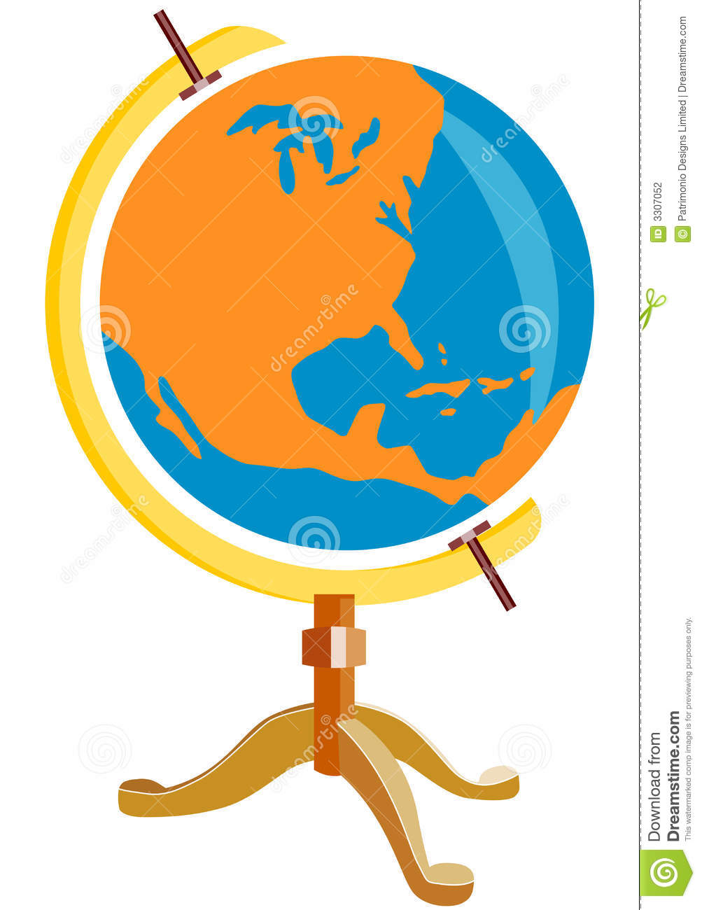 United states map globe clipart banner freeuse stock Globe With United States Map Stock Photography - Image: 3307052 banner freeuse stock