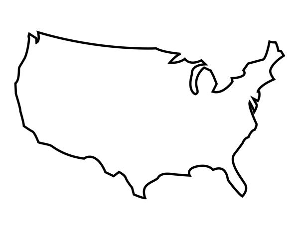 United states map outline clipart clipart black and white stock Printable United States Outline | Art/Craft: Stenciled L❤VE ... clipart black and white stock