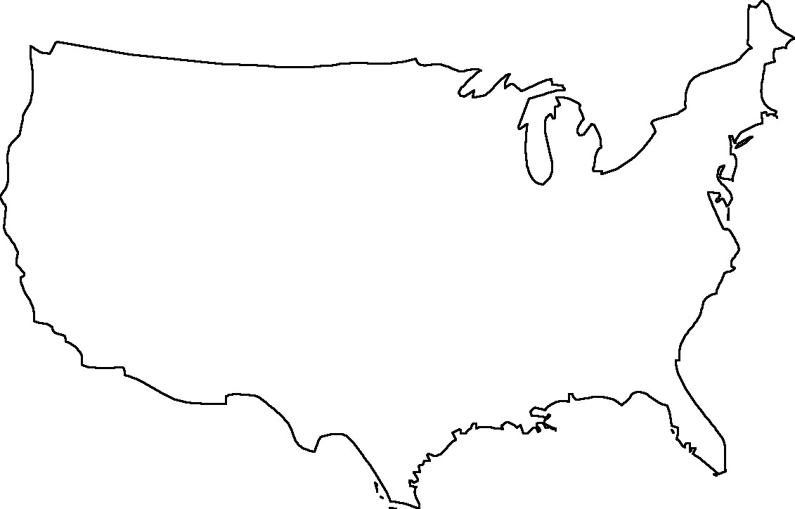 United states map outline clipart clip transparent library Within Clipart Of United States Map Outline Uk 12 | Clip Art clip transparent library
