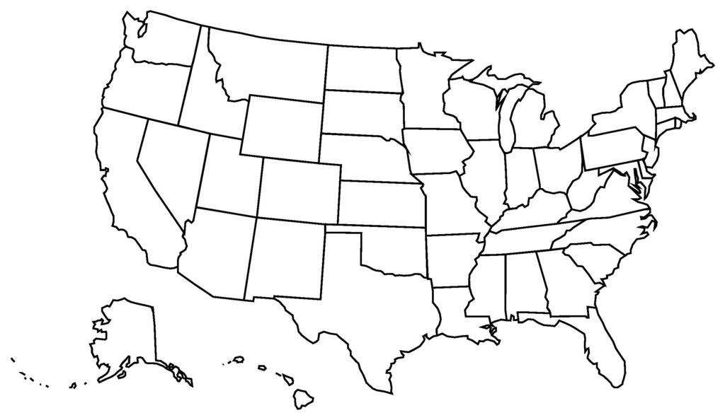 United states map outline clipart svg free download Clipart Of United States Map Outline | Clip Art svg free download