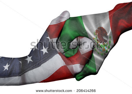 United states mexico flag clipart jpg free stock Mexican And American Flags Stock Images, Royalty-Free Images ... jpg free stock