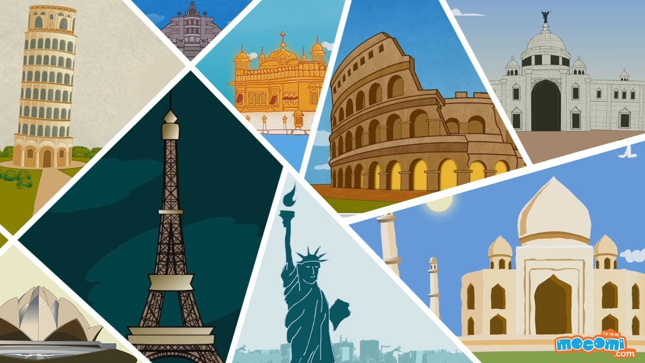 United states national monuments clipart svg library 15 Famous Monuments Around The World - Fun Facts Video   Kids Education by  Mocomi svg library