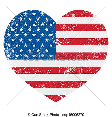 United states of america flag clipart freeuse download Vectors Illustration of United States on America flag - USA ... freeuse download