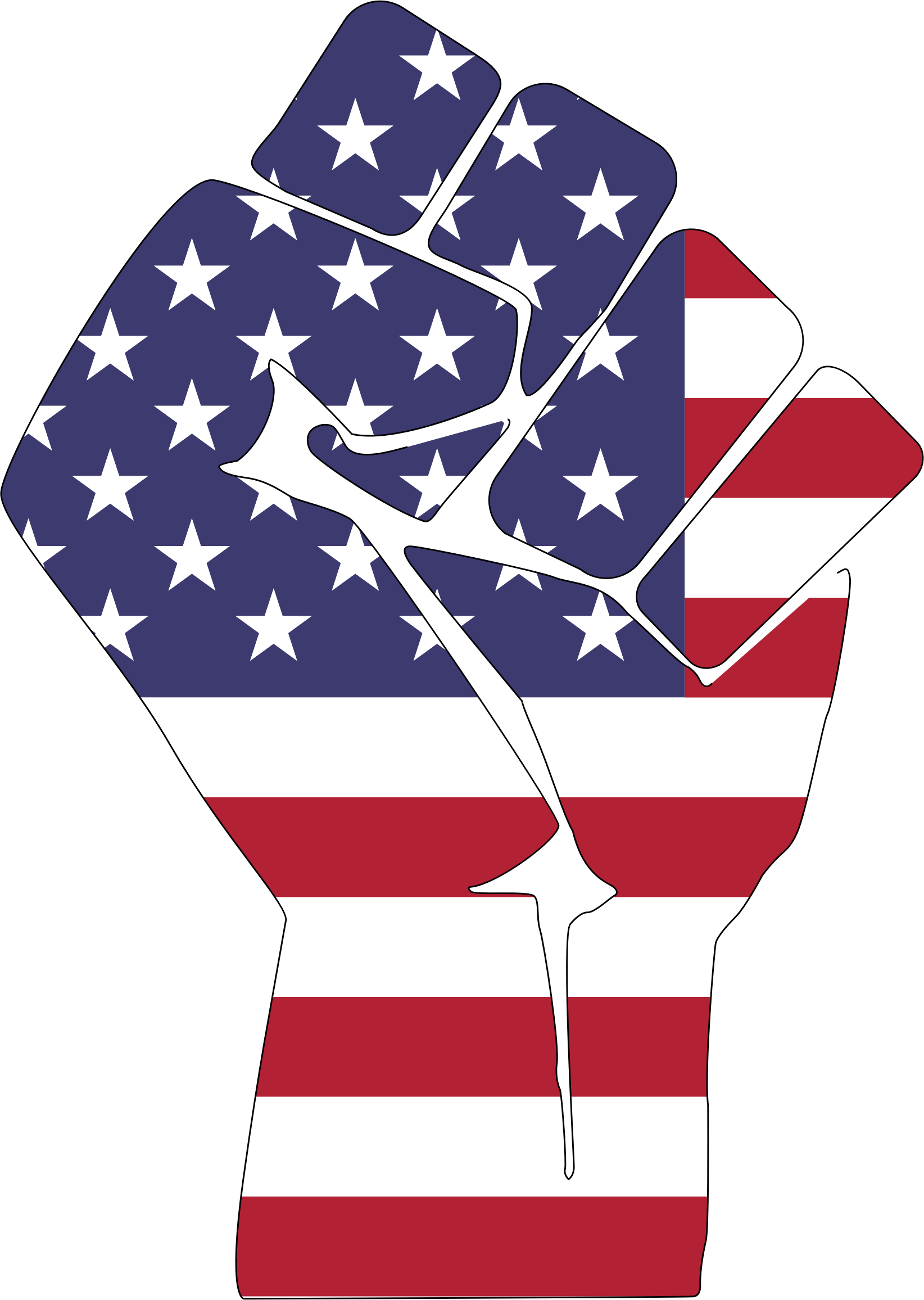 United states of america flag clipart freeuse Clipart - American Flag Fist With Stroke freeuse