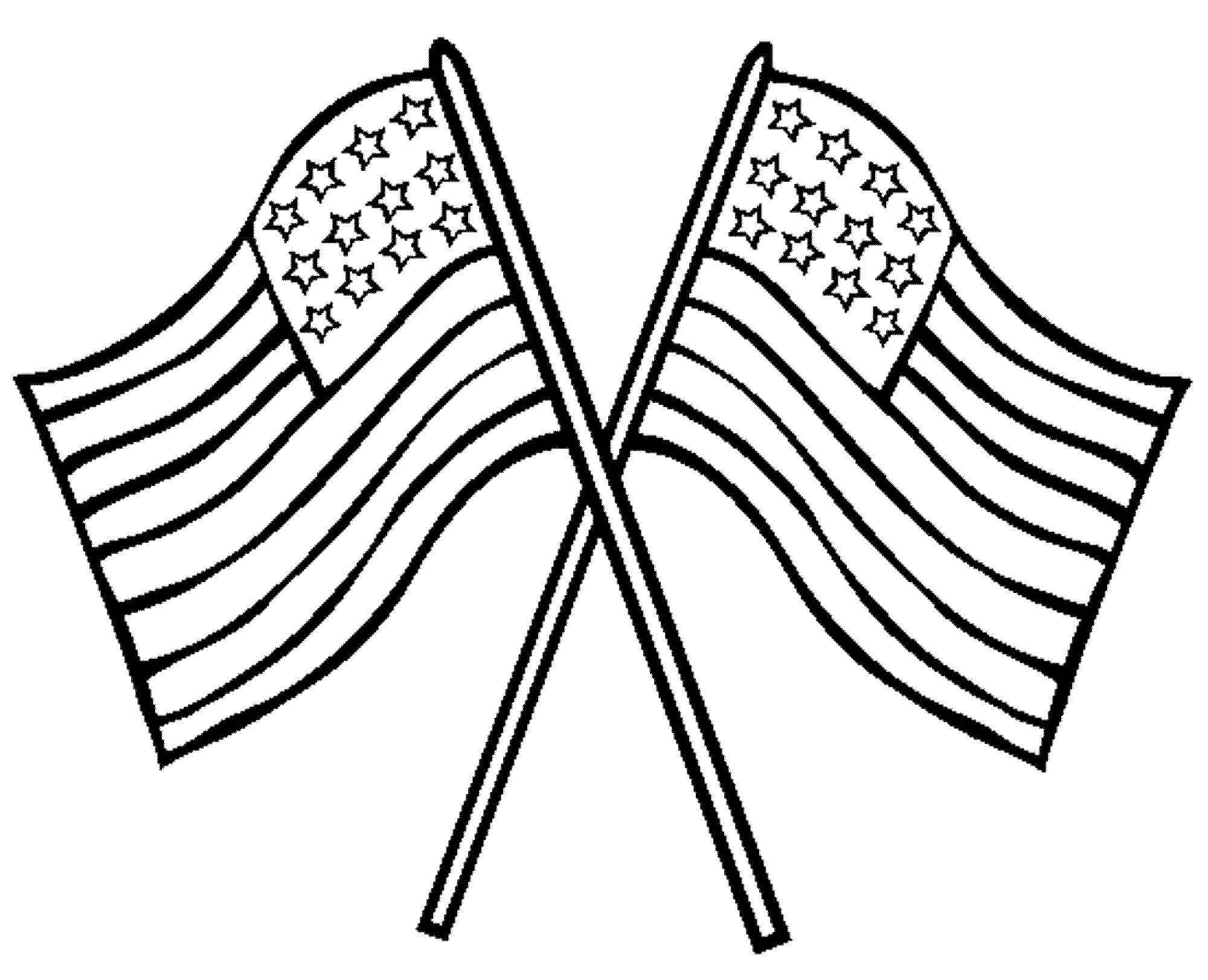 United states of america flag clipart black and white kids picture transparent download American flag clip art coloring colorine net - Clipartix picture transparent download