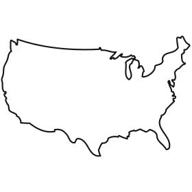 United states outline clip art