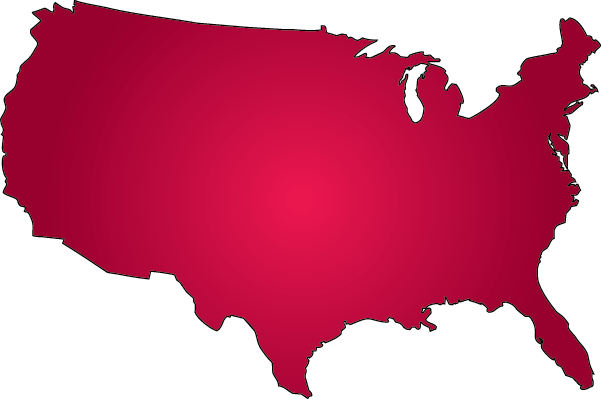 United states outline clipart red banner black and white stock Outline Map Of Usa - ClipArt Best banner black and white stock