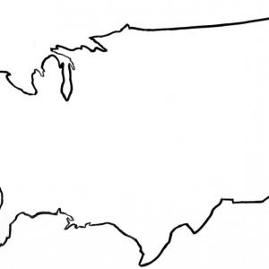 United states outline drawing clipart clipart free Exclusive Clipart United States Map With States Layout | Vectory clipart free