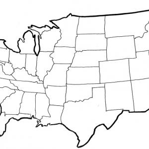 United states outline drawing clipart graphic free download Exclusive Clipart United States Map With States Layout | Vectory graphic free download