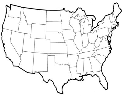 United states outline drawing clipart vector royalty free Map Of Usa Drawing | aurt.digimerge.net vector royalty free