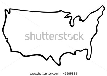 United states outline drawing clipart graphic freeuse stock Select City graphic freeuse stock