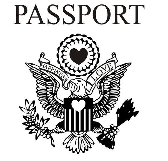 United states passport clipart clip art black and white Passport eagle clip art - ClipartFest clip art black and white