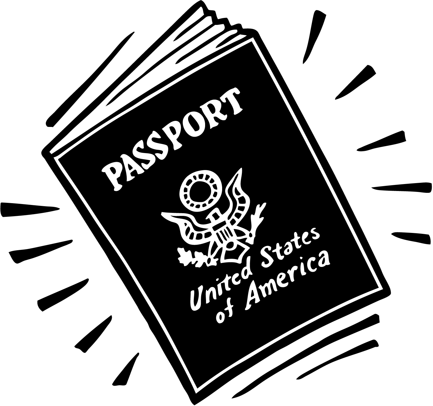 United states passport clipart clip art library library Passport clip art - ClipartFest clip art library library