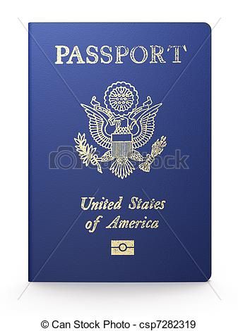 United states passport clipart png transparent Stock Illustration of US passport on white background csp7282319 ... png transparent