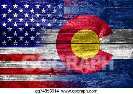 United states president chalk clipart svg library stock Clipart - Usa and colorado state flag painted on old wood ... svg library stock