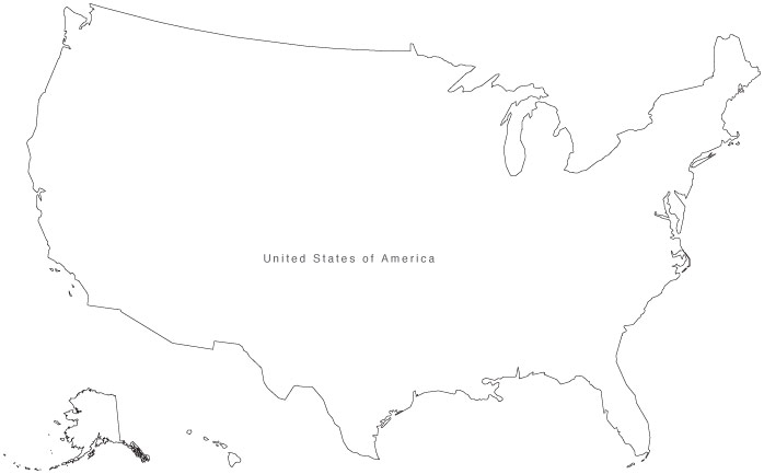 United states simple outline clipart graphic free library Simple Map Of Us - ClipArt Best graphic free library