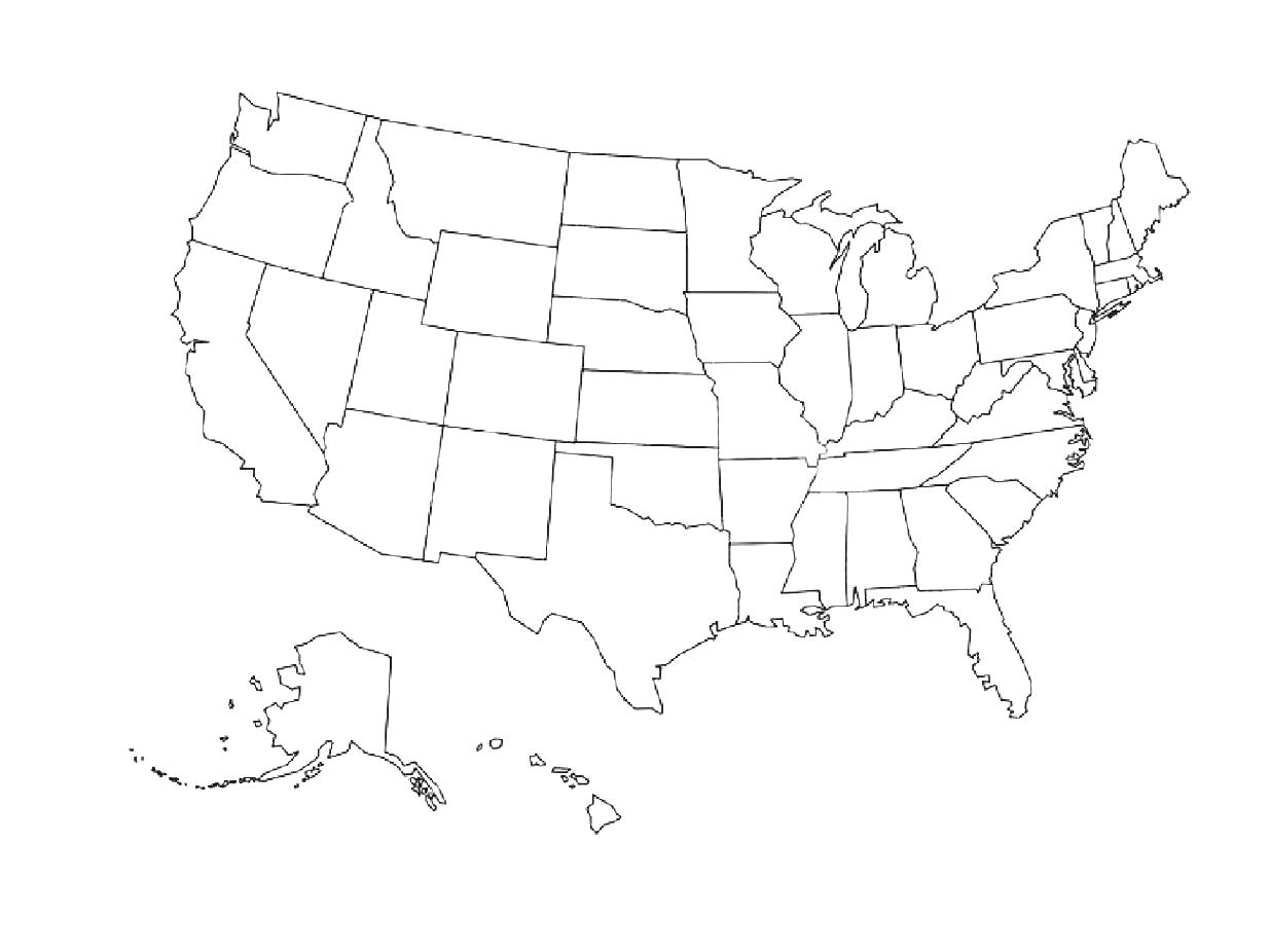 United states simple outline clipart png library download Blank Northeast Us Map Outline Of Geography Blog Maps United ... png library download