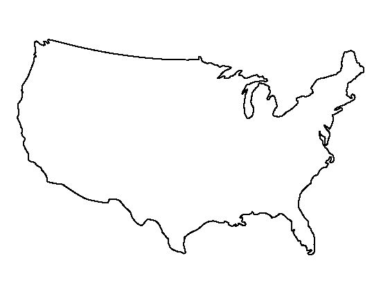 United states simple outline clipart vector free download 41 best ideas about states on Pinterest | Arkansas, State crafts ... vector free download