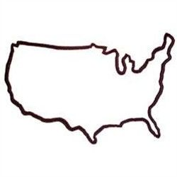 United states simple outline clipart picture black and white Clipart united states outline - ClipartFest picture black and white