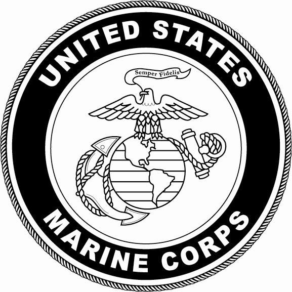 United states usmc logo black and white clipart vector freeuse library United States Marine Corps Symbols Clip Art - Beautiful ... vector freeuse library