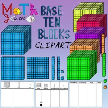 Base ten units clipart jpg freeuse stock Base Ten Blocks Clip Art | Math Clips | Base ten blocks ... jpg freeuse stock