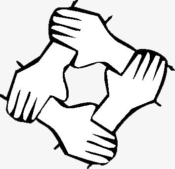Unity clipart black and white clipart library download Unity Is Strength, Hand, Hand Painted, Lines Closed PNG ... clipart library download