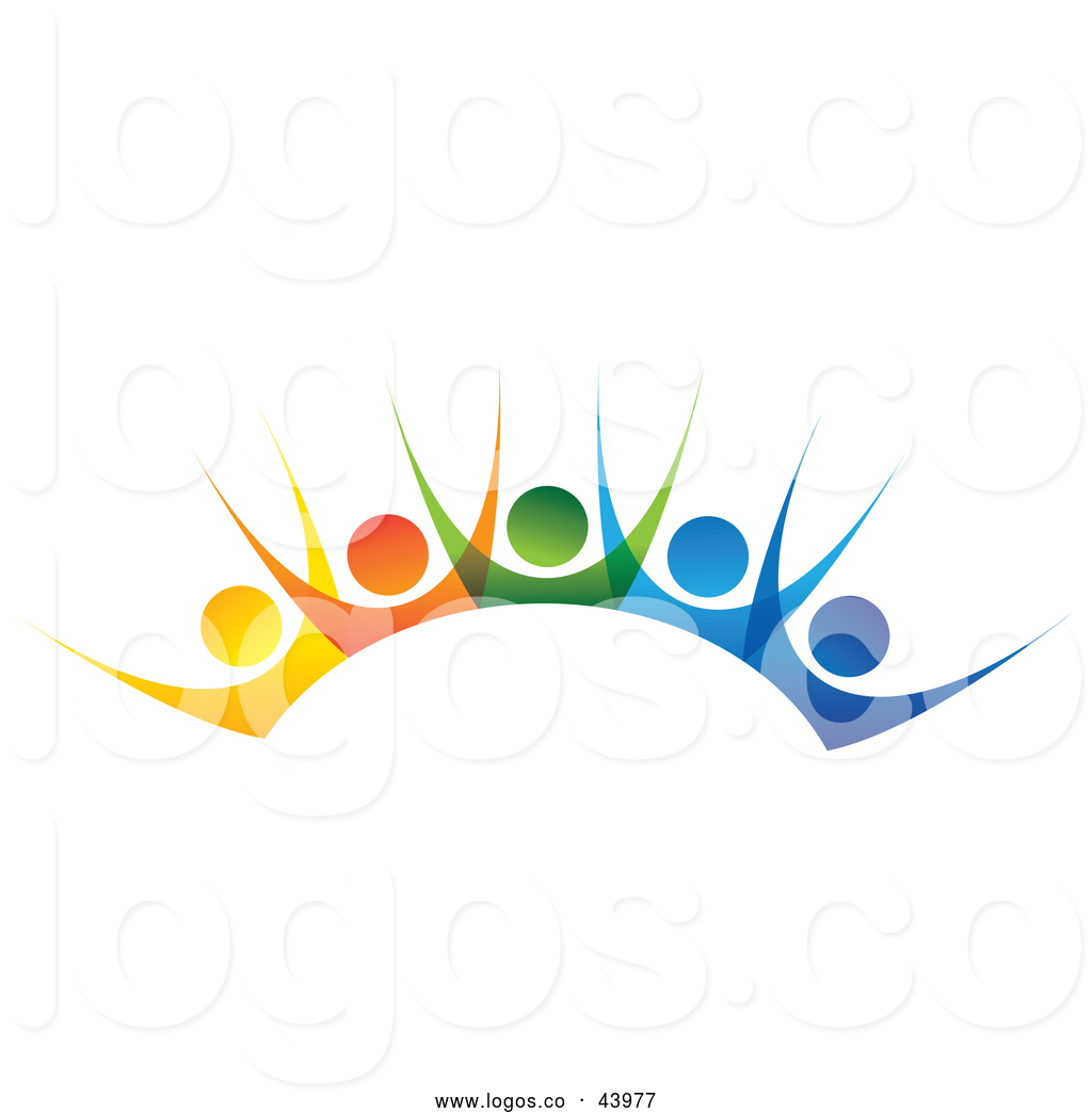 Get together logo clipart graphic free download Logo of a Teamwork Unity Group of Colorful People Cheering ... graphic free download
