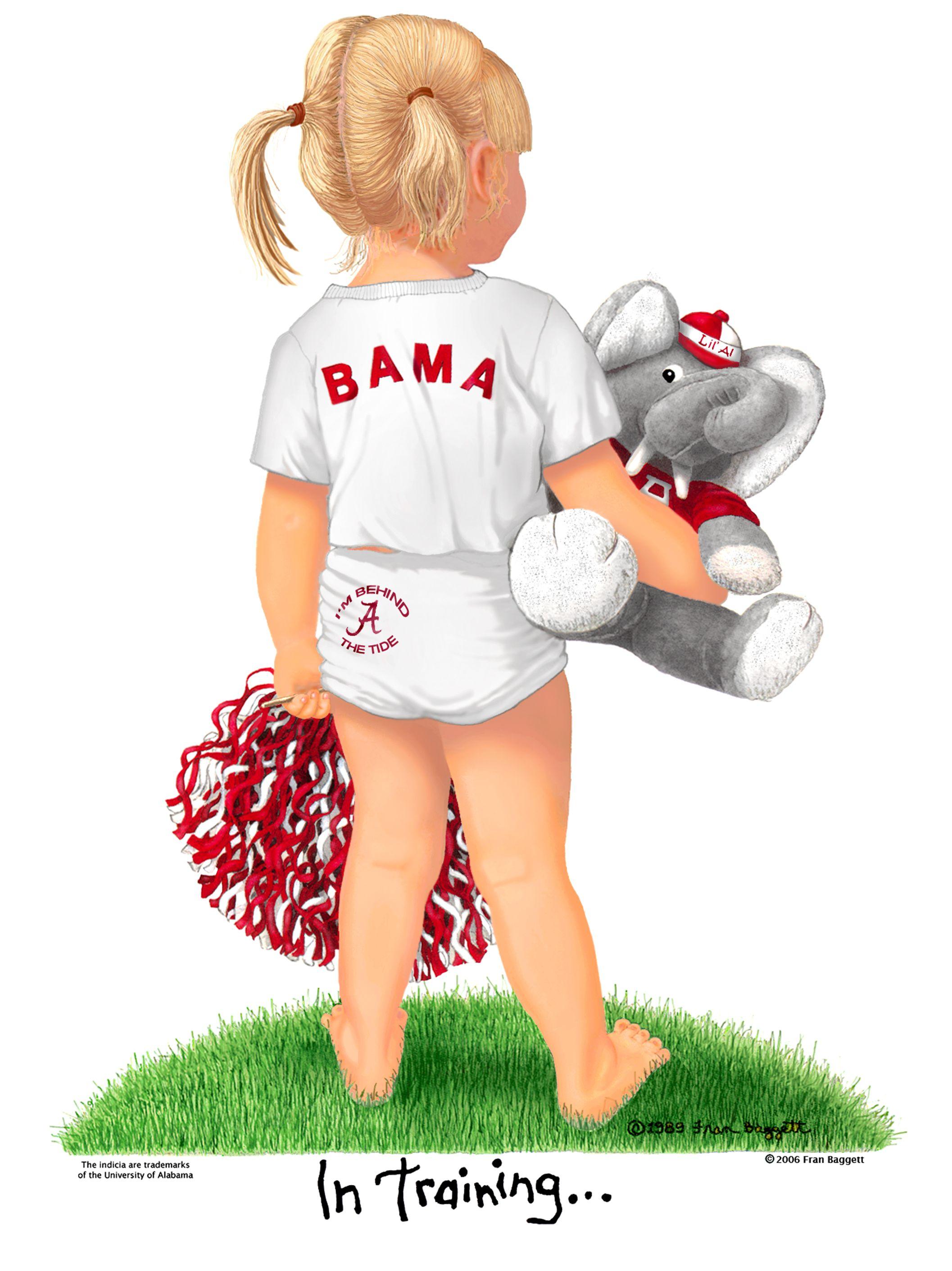 University alabama cheerleader clipart library Alabama Cheerleader   Matted Art by Fran Bagget   Alabama ... library