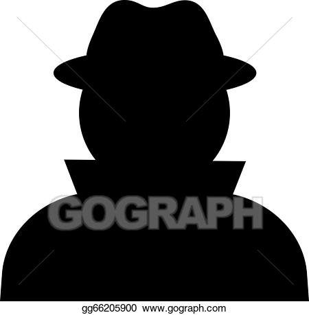 Unknown clipart image EPS Vector - Unknown person. Stock Clipart Illustration ... image