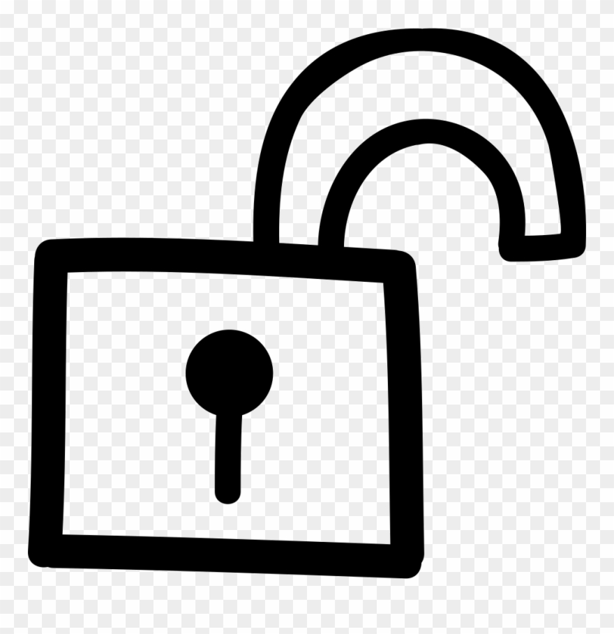 Unlock clipart black and white clipart royalty free Unlock Hand Drawn Symbol Clipart (#2450101) - PinClipart clipart royalty free