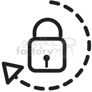 Unlock clipart black and white clip black and white unlock vector icon . Royalty-free icon # 398710 clip black and white