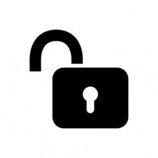 Unlock clipart png black and white library Free Unlocked Lock Cliparts, Download Free Clip Art, Free ... png black and white library