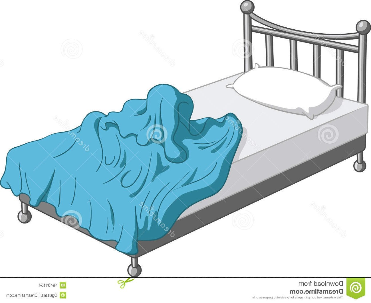Unmade bed clipart image free stock Messy Bed Cliparts - Making-The-Web.com image free stock