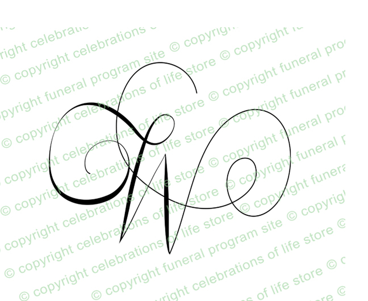 Unopened letter clipart royalty free library Monogram Script Letter W royalty free library