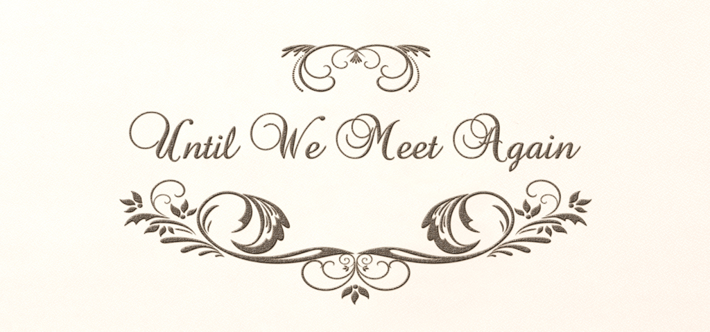 Until we meet again clipart vector library library S P 530 BZ RT Until We Meet Again Bronze Rosetan vector library library