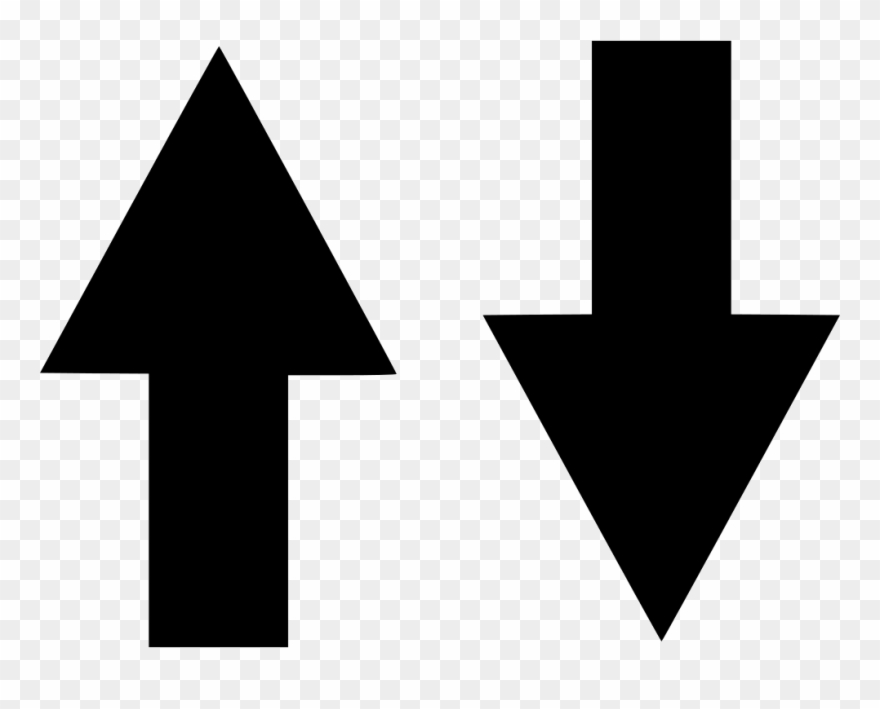 Up and down arrow clipart picture black and white Arrow, Arrows, Direction, Down, Download, Guidance, - Up ... picture black and white