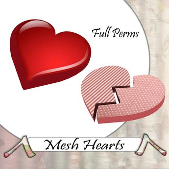 Up and down hearts clipart clip library stock Second Life Marketplace - ^Upcycled^ Full Perm Mesh Hearts clip library stock
