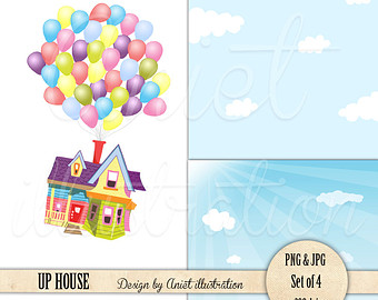Up clipart house clip free library Up Movie House Clipart - Clip Art Library clip free library