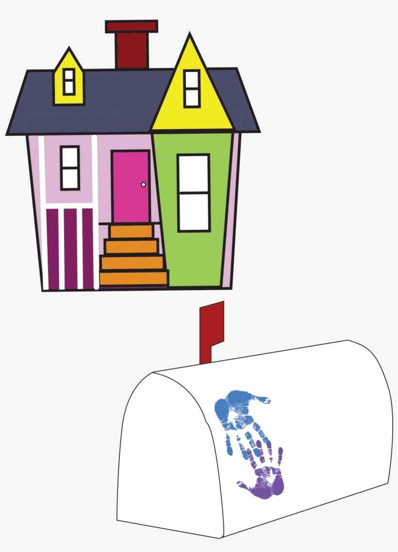 Up movie house clipart transparent banner Up House Printable Download - Up Movie Care Package - Free ... banner