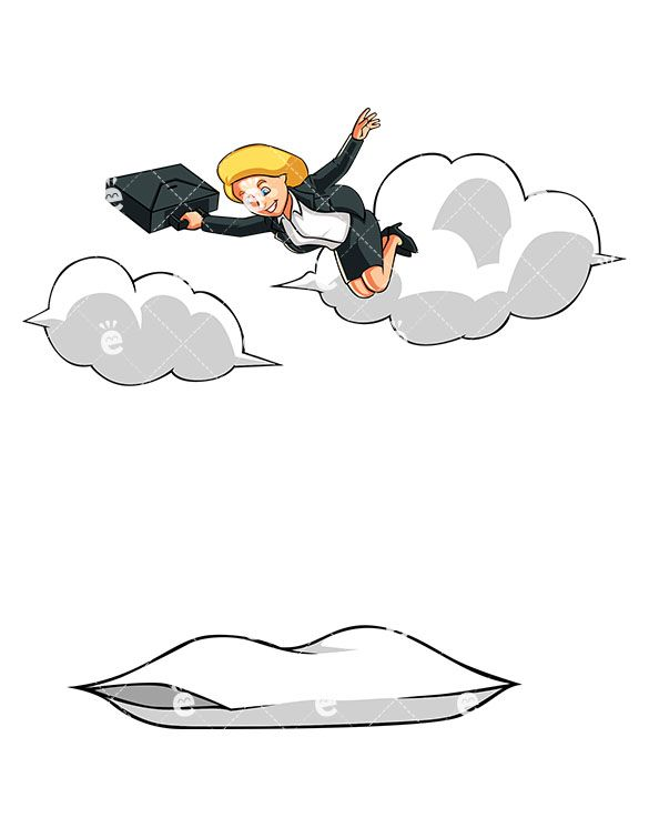 Up to the sky clipart svg transparent download An Overjoyed Businesswoman Floating High Up In The Sky ... svg transparent download