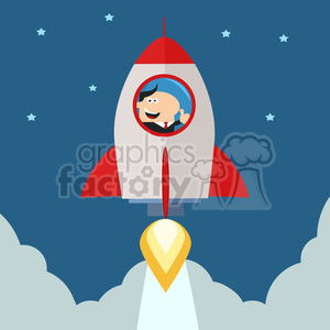 Up to the sky clipart graphic black and white library 8331 Royalty Free RF Clipart Illustration Manager Launching A Rocket To The  Sky And Giving Thumb Up Flat Style Vector Illustration clipart. ... graphic black and white library