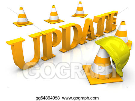 Updates clipart png freeuse stock Stock Illustration - Update cosntruction site. Clipart ... png freeuse stock